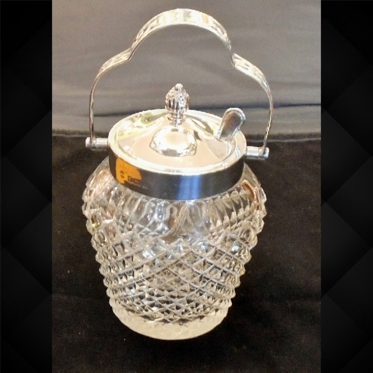 Silver Topped Cut Glass Preserve Jar (1 of 1)