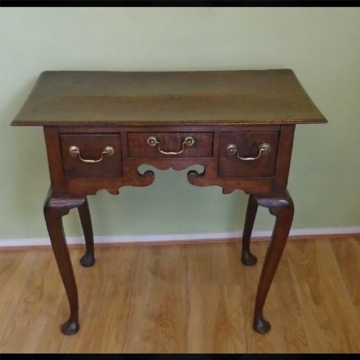 18th Century Oak Lowboy (1 of 1)