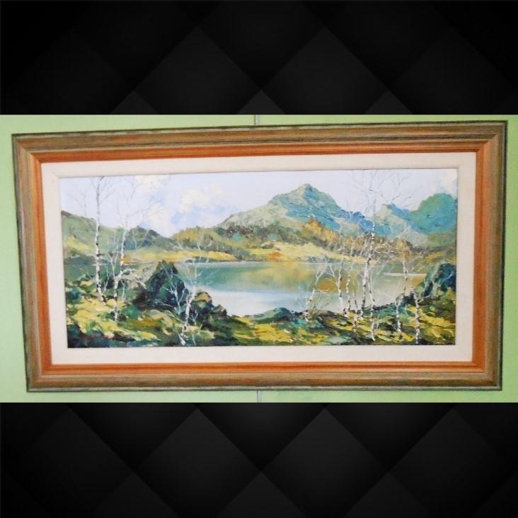 Oil Moel Hebog Snowdonia by Charles Wyatt Warren (1 of 1)