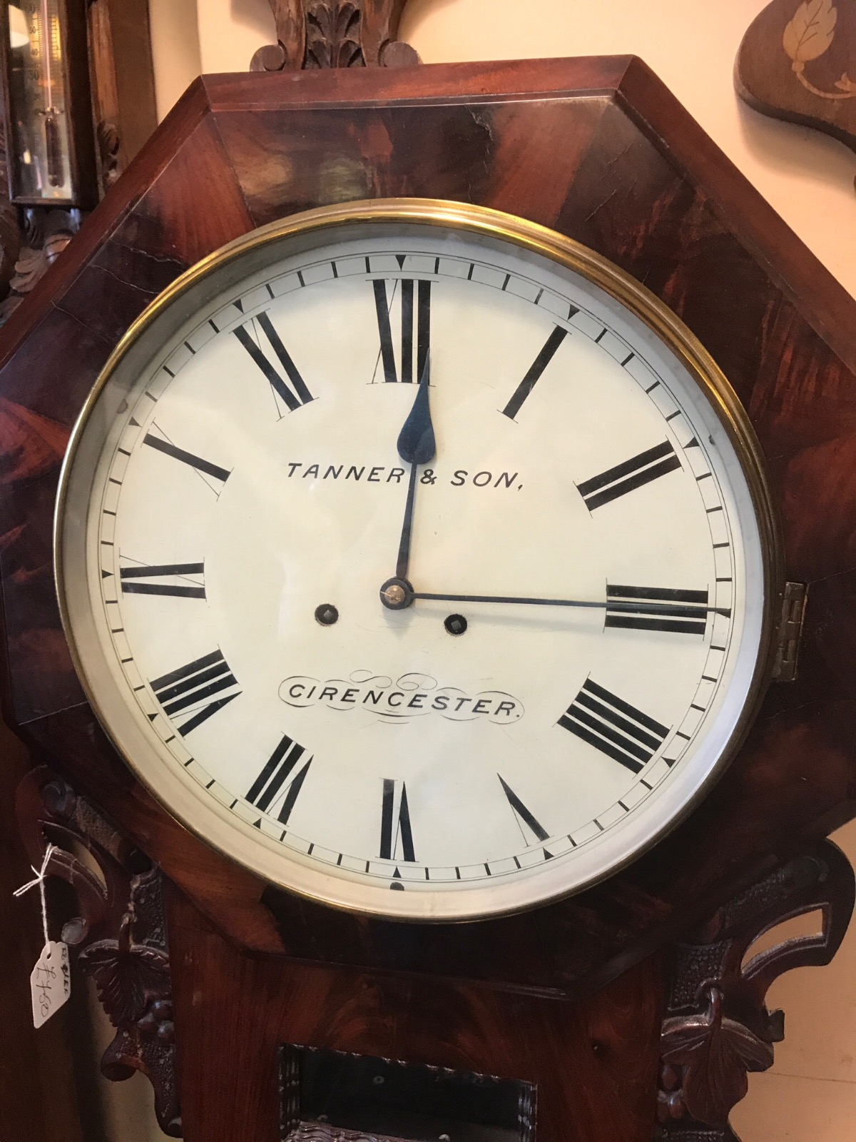 Double Fusee Wall Clock (1 of 1)