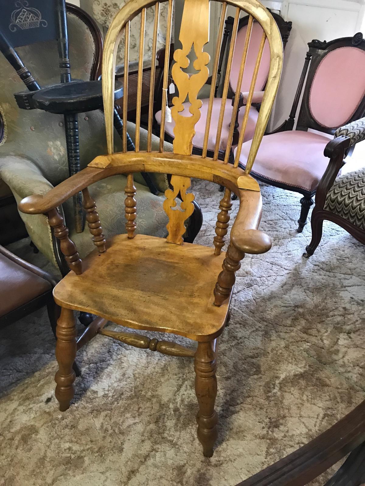 Windsor Broad Arm Armchair c.1860 (1 of 1)