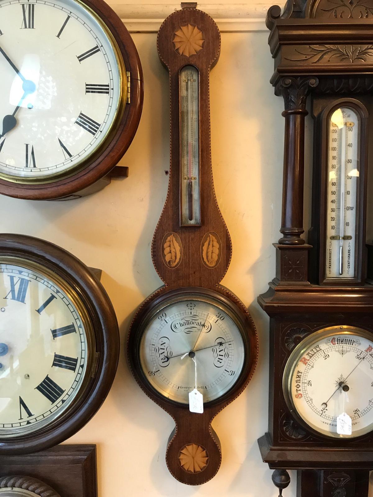 Inlaid Mahogany Barometer (1 of 1)