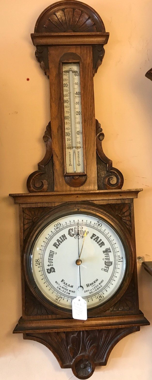 Oak Carved Barometer c.1900 (1 of 1)