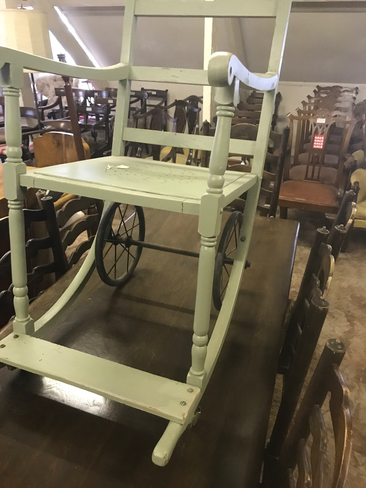 Unusual 19th Century Wheel Chair (1 of 1)