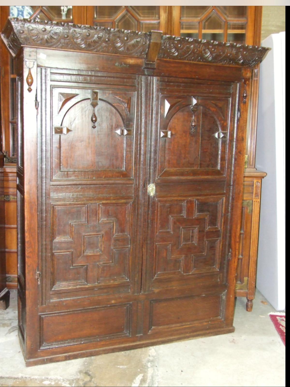 Carved Oak Cupboard (1 of 1)