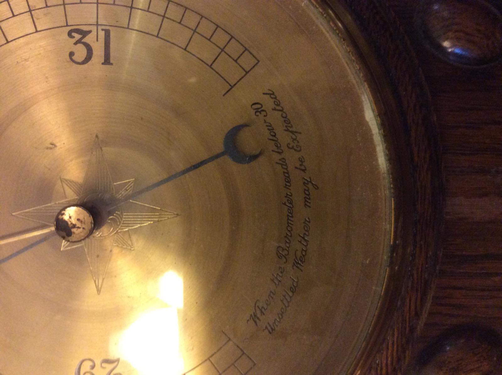 Oak Banjo Barometer (1 of 1)