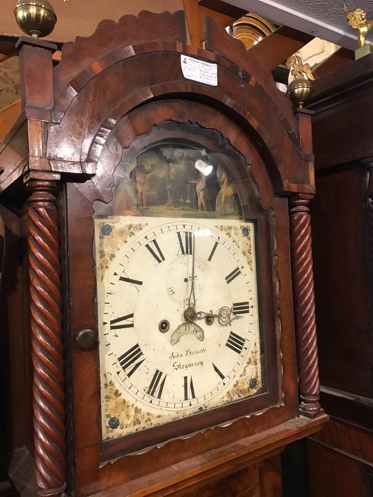 Adam & Eve Rocking Mahogany Longcase Clock (1 of 1)
