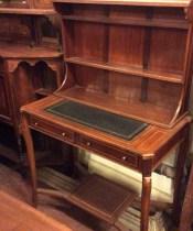 Unusual Inlaid Edwardian Mahogany Desk (1 of 1)