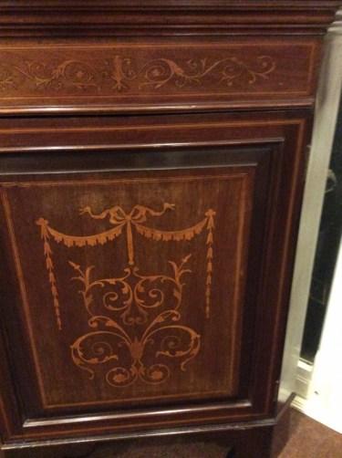 Edwardian Mahogany Inlaid Corner Cabinet (1 of 1)