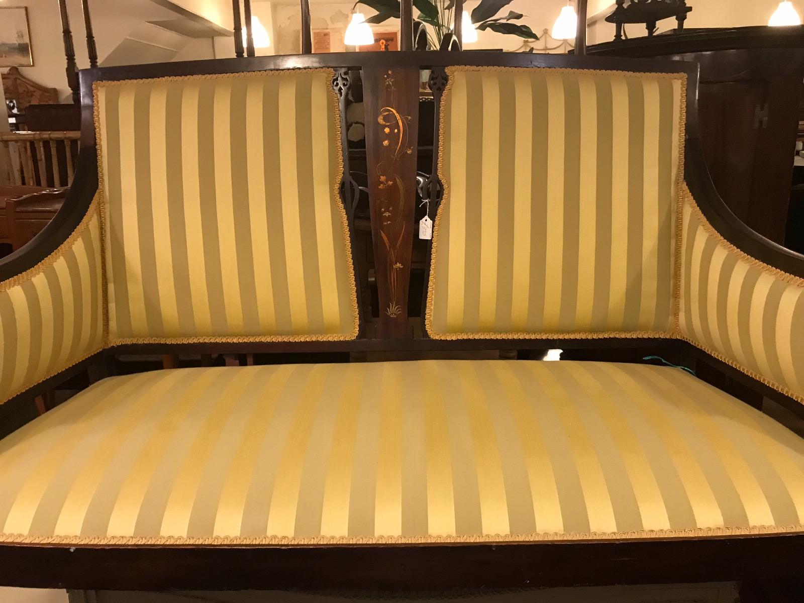 Shoolbred Art Nouveau Sofa C.1890 (1 of 1)