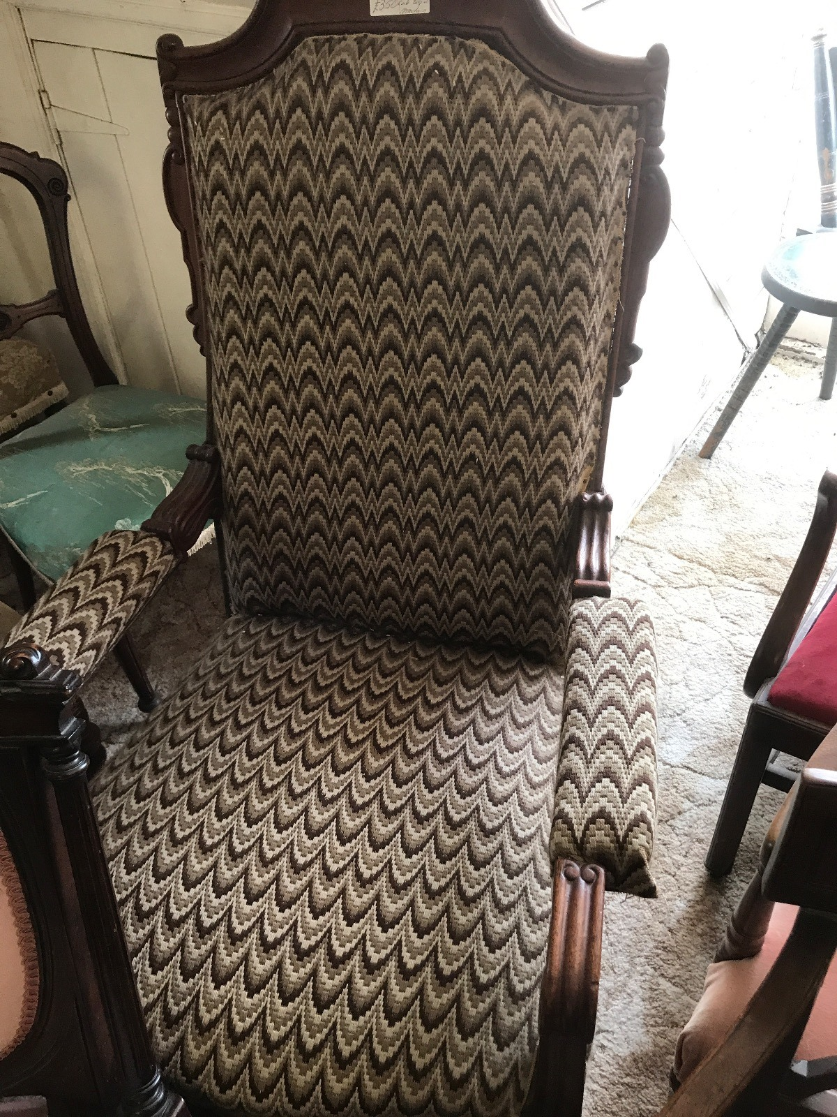 Victorian Mahogany Armchair (1 of 1)