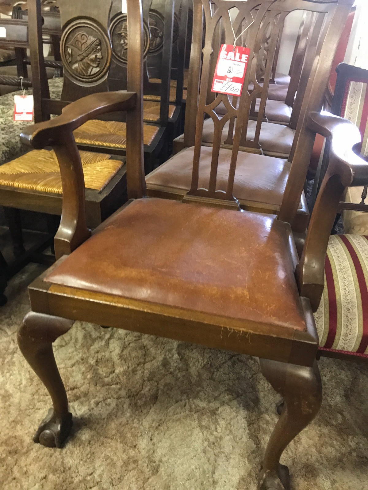 6 Mahogany Dining Chairs (1 of 1)