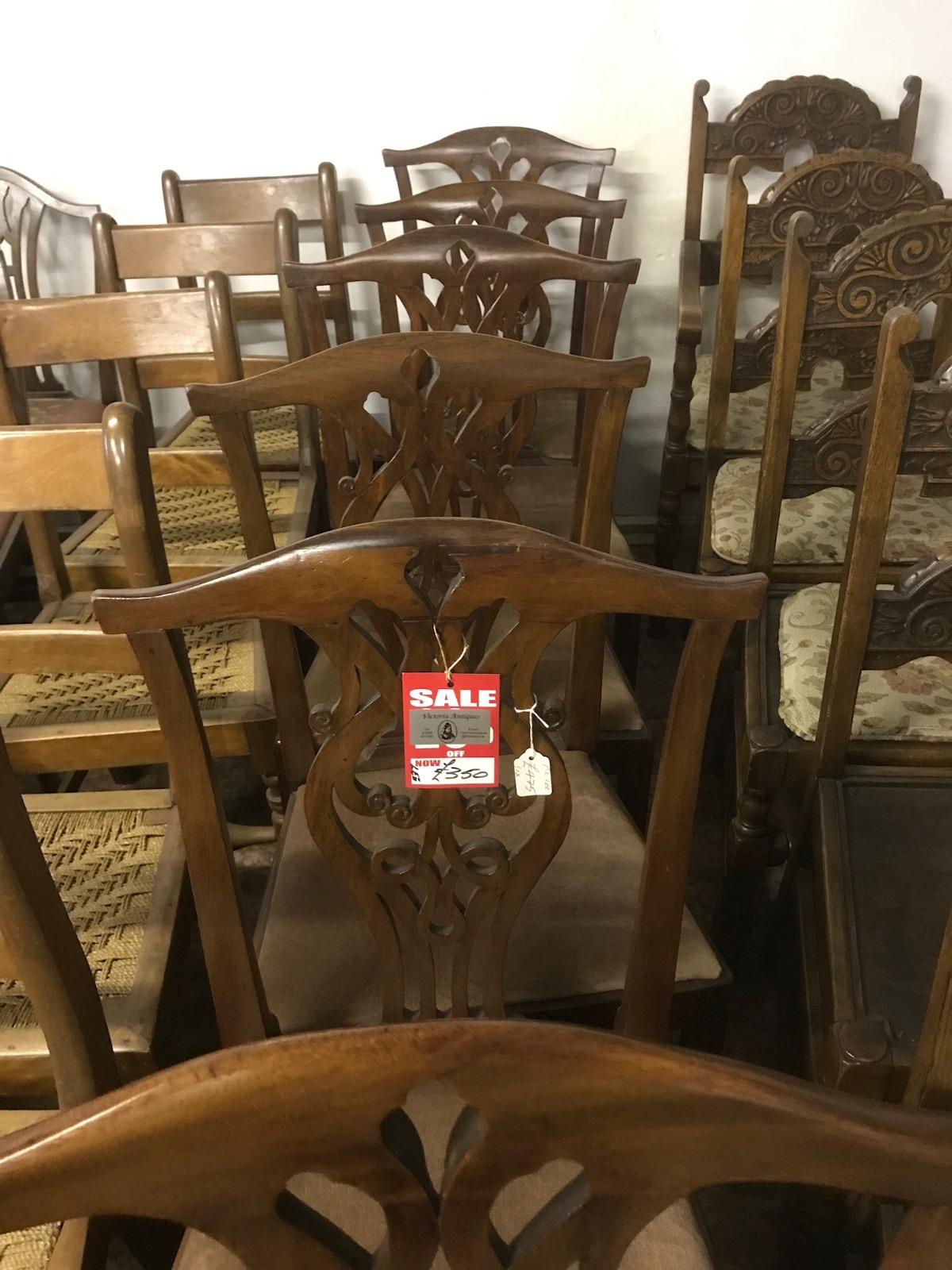 Set of 6 Mahogany Chairs (1 of 1)