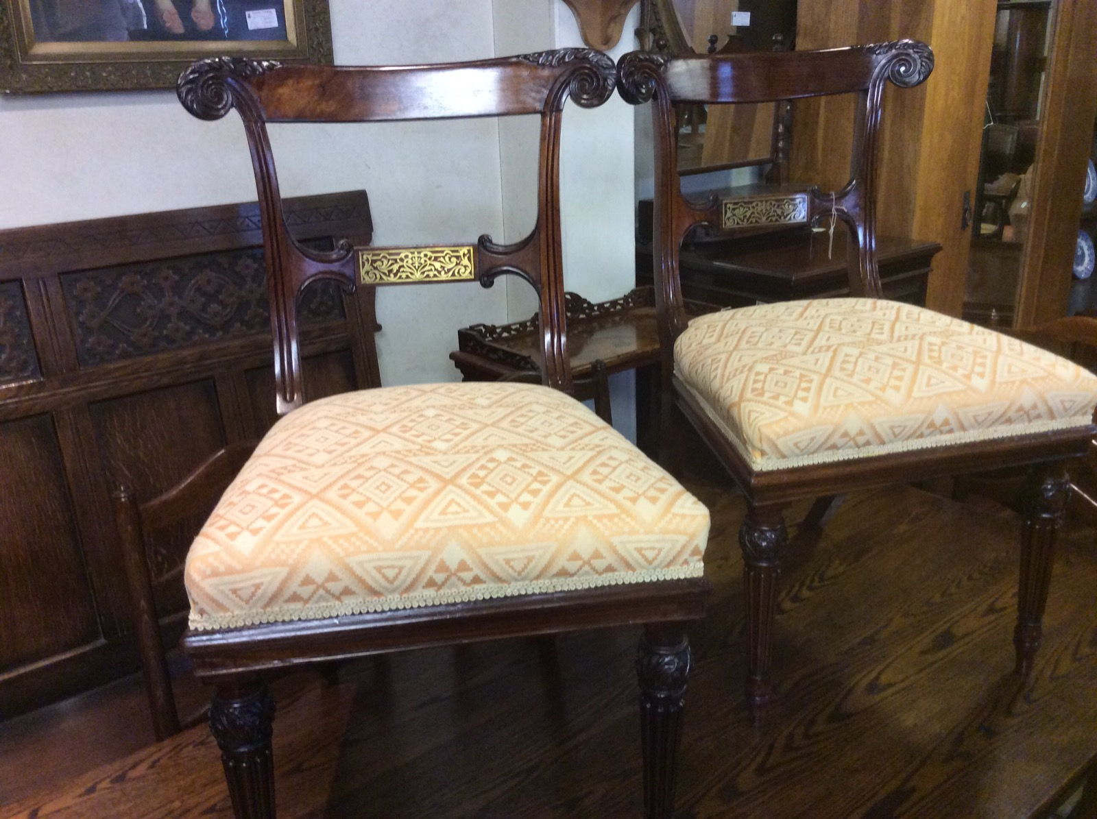 Pair of Rosewood Chairs C.1800 (1 of 1)