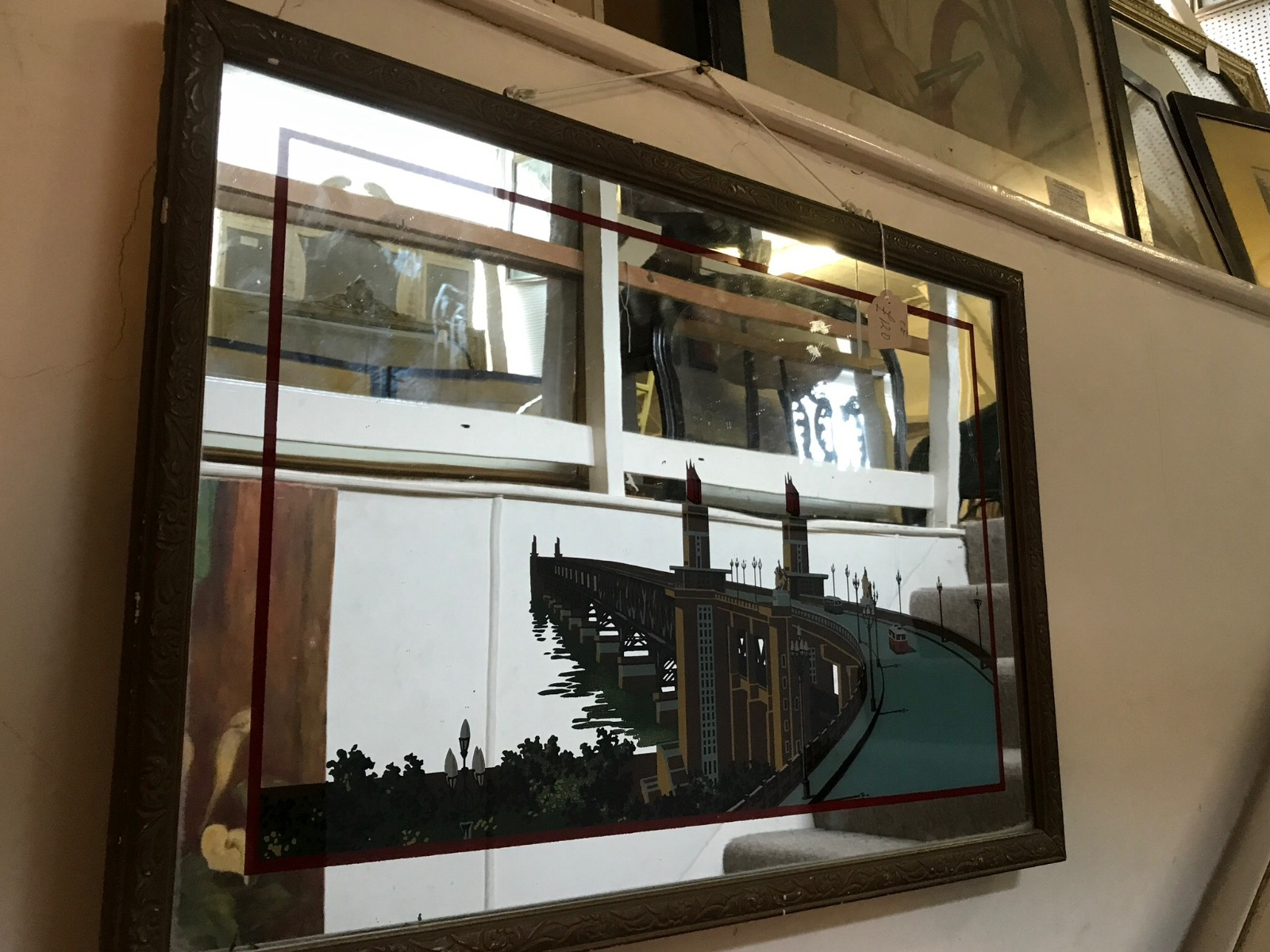 Retro / Deco Wall Mirror (1 of 1)