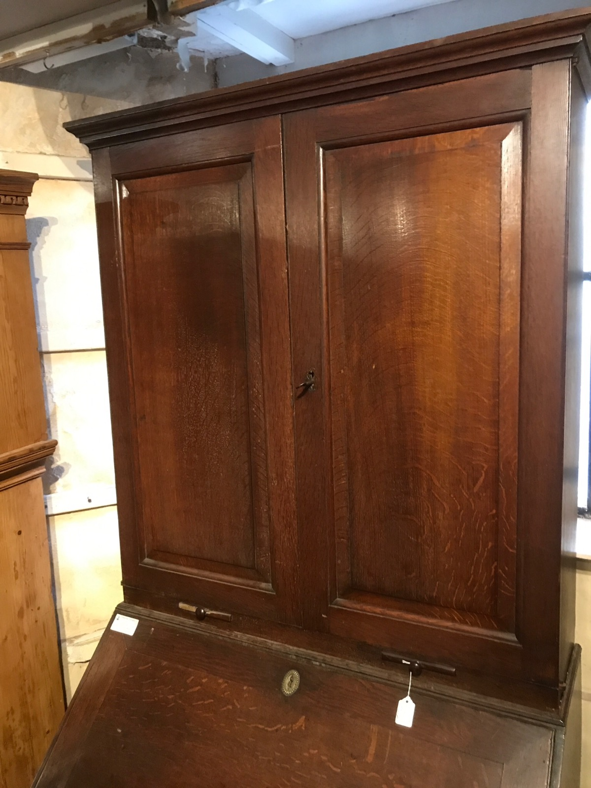 Georgian Oak Bureau Bookcase (1 of 1)