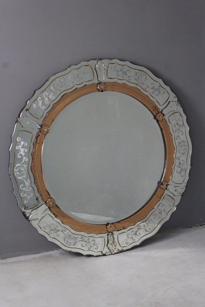 Large Venetian Round Mirror C 1910 4709868 La118266 Loveantiques Com