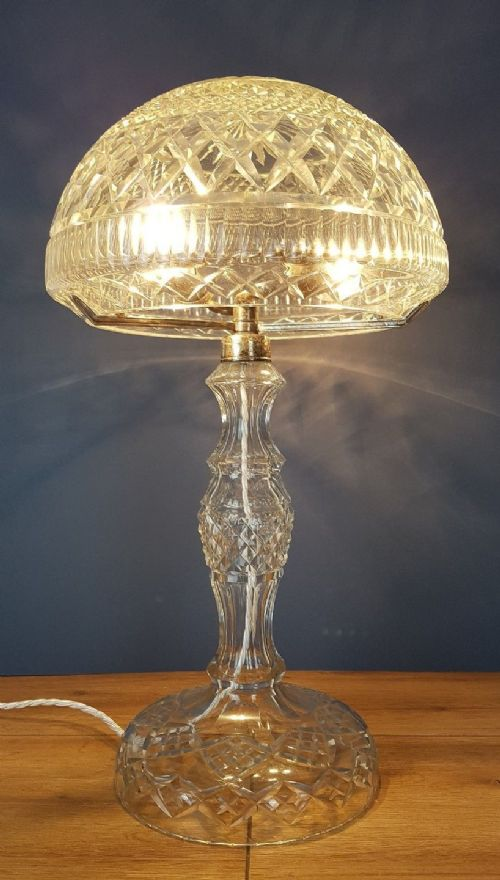 cut glass lamp in Antique Table Lamps
