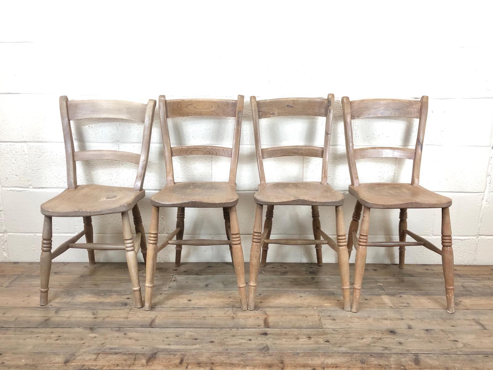 Four Similar Antique Farmhouse Kitchen Chairs M 682 La207676 Loveantiques Com