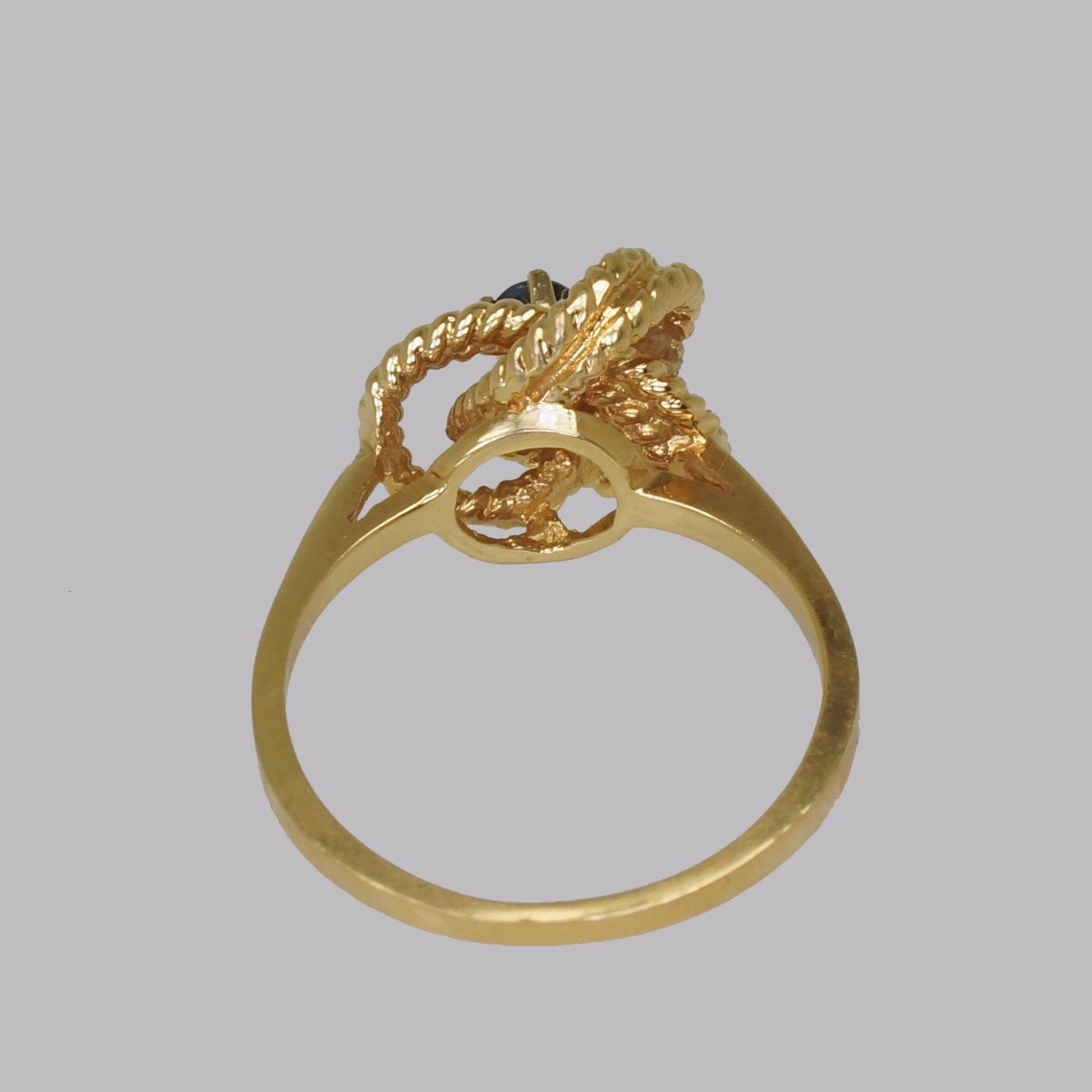 Vintage Tiffany Co 18ct Gold Blue Sapphire Ring Rare Tiffany Woven Knot Ring 1950 La177083 Loveantiques Com