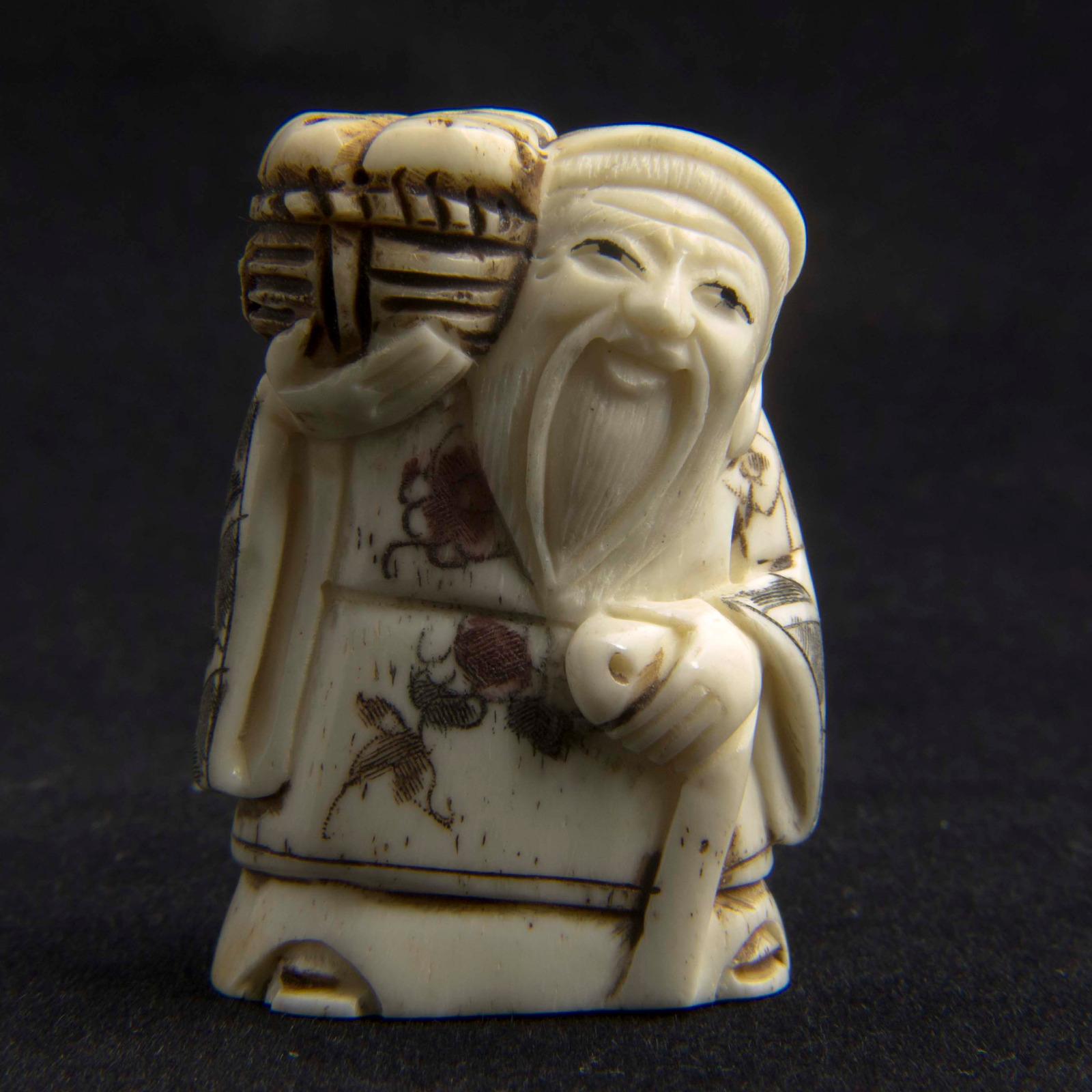 Japanese Carved Bone Netsuke 3207 La180383 Loveantiques Com