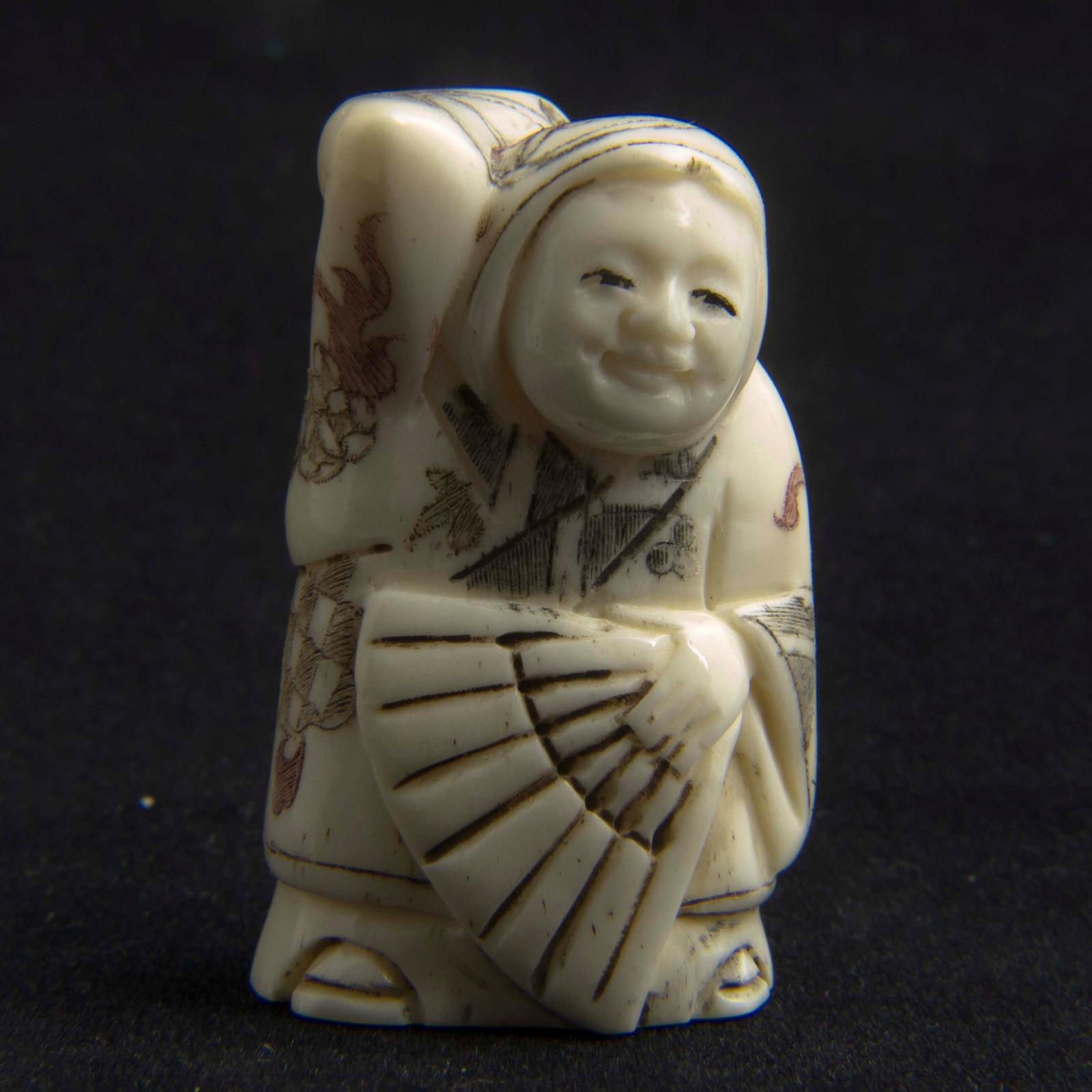 Japanese Carved Bone Netsuke 3210 La180386 Loveantiques Com