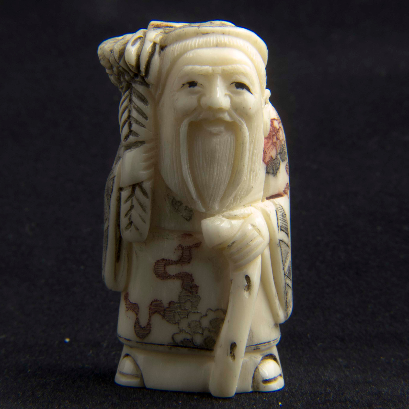 Japanese Carved Bone Netsuke 3211 La180387 Loveantiques Com