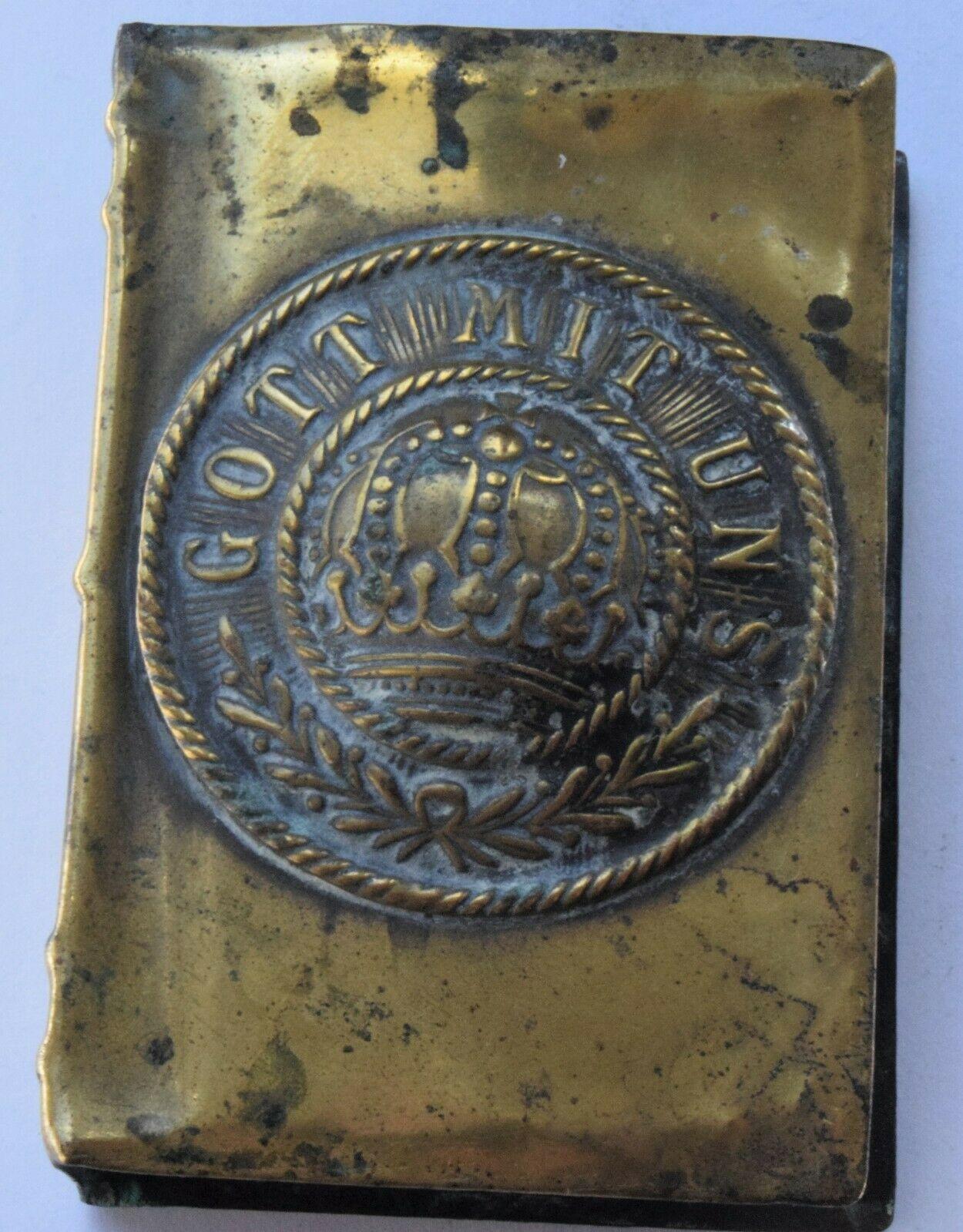 Rare Wwi Trench Art Brass Match Box Holder Germany Gott Mit Uns 007 La220559 Loveantiques Com