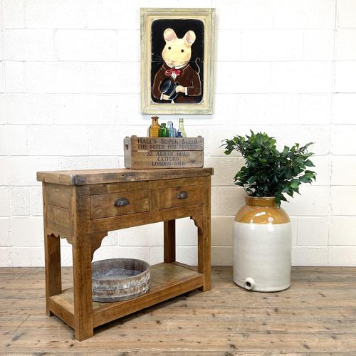Reclaimed Wooden Sideboard with Two Drawers (1 of 10)