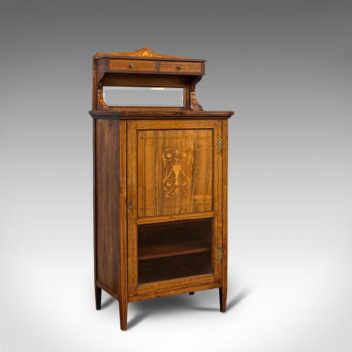 Antique Music Cabinet, English, Rosewood, Side, Hall Stand, Edwardian c.1910 (1 of 12)