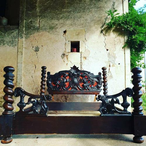 Italian Neo Renaissance King Size Bed (1 of 6)