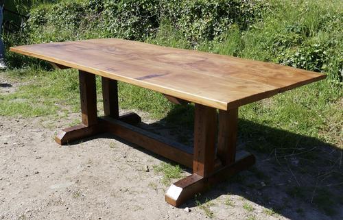 Reclaimed Elm Rustic English Barn Table (1 of 10)