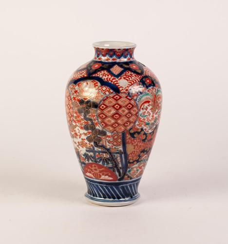 19th Century Chinese Imari Porcelain Ovular Vase (1 of 2)