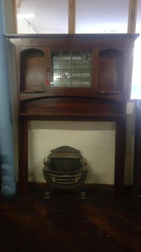 Large Arts & Crafts Mahogany Fire Surround in the Luytens Style (1 of 4)