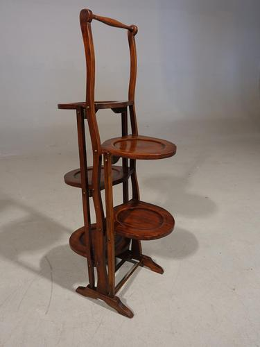 Unusual 1920's Mahogany Double Sided Tilting Cake Stand (1 of 5)