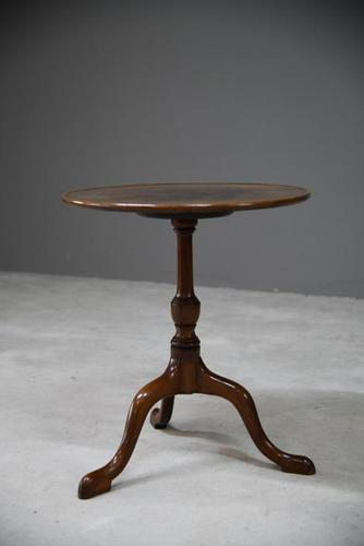 Georgian Mahogany Tripod Side Table (1 of 12)
