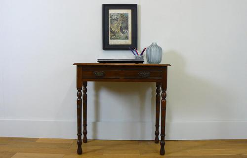 Delightful Little Victorian Leather Topped Single Drawer Desk c.1880 (1 of 12)