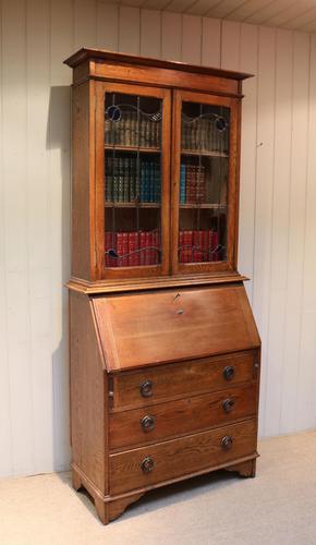 Arts & Crafts Oak Bureau Bookcase (1 of 11)