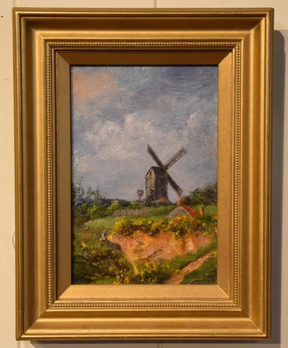 """Oil Painting by William Rackham """"Mill on the Mousehold Heath"""" (1 of 4)"""