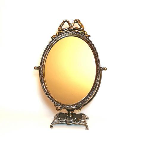 Vintage Ornate Italian Brass Dressing Table Mirror C.1960's (1 of 8)