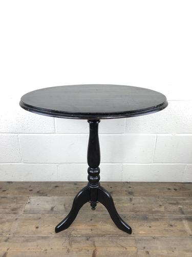 Antique Ebonised Wine Table with Oval Top (1 of 12)