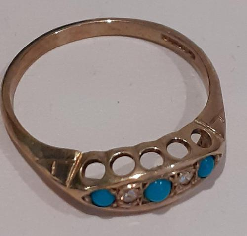Gold Turquoise Ring (1 of 5)