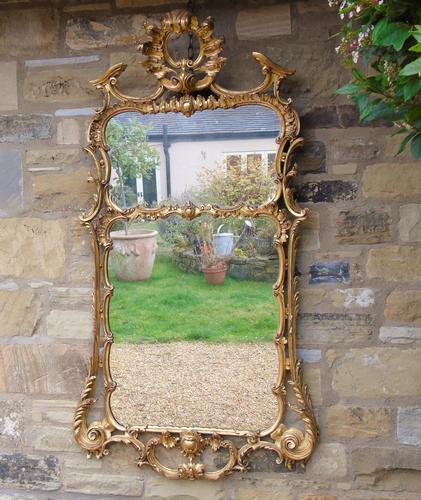 Stunning Twin Plate Rococo Mirror 19th Century (1 of 8)