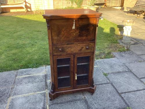 Victorian Walnut Sheet Music/ Bureau Cabinet (1 of 5)