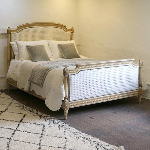 Louis XVI Style Bed with Upholstered Panels (1 of 10)