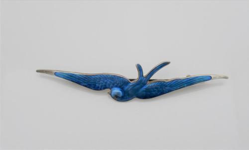 Charles Horner, Silver & Enamel Bird Brooch, Chester 1911 (1 of 7)