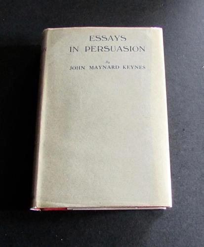 1933 Essays In Persuasion by John Maynard Keynes with Original Dust Jacket (1 of 5)