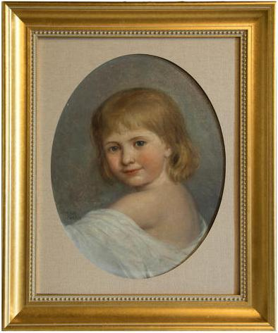 Emma Irlam Briggs- Oil on Canvas - Portrait of a Girl 1896 (1 of 3)
