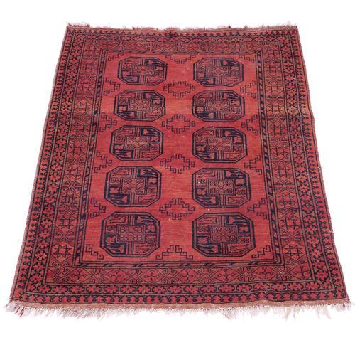 """Vintage / Retro Wool Rug Roughly 6'8"""" x 4'4"""" (1 of 7)"""