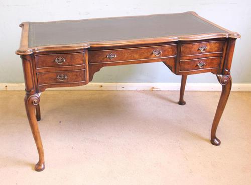 Antique Quality Burr Walnut Writing Desk (1 of 13)
